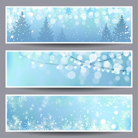 クリスマスのバナー イラストのセット  イラスト・ベクター素材