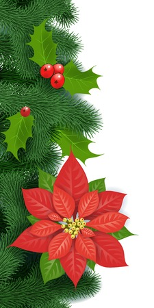 pine wreath: Seamless Christmas decoration.