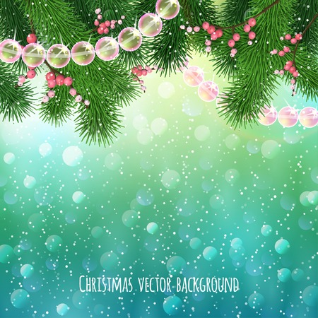 Realistic Christmas background.