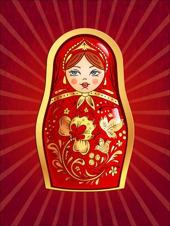 Russian doll. Vector illustration, Banco de Imagens - 49588175