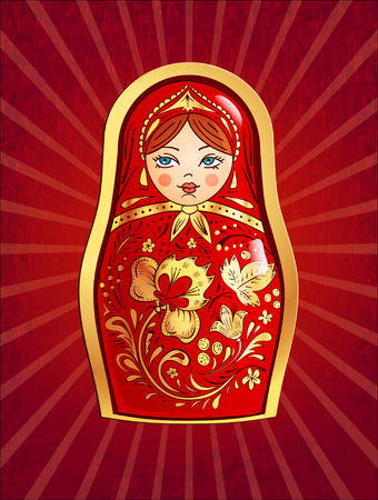 nested: Russian doll. Vector illustration, Illustration