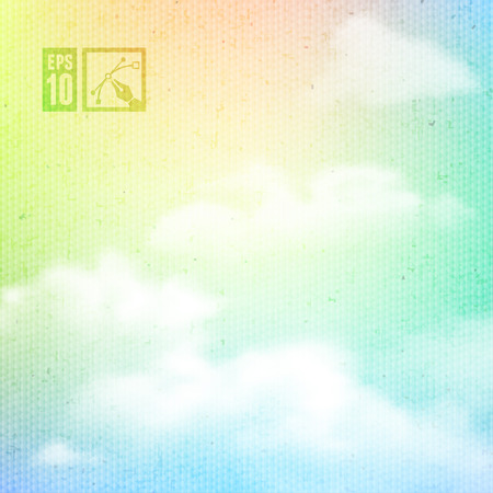 rainbow clouds: Rainbow Clouds Background.