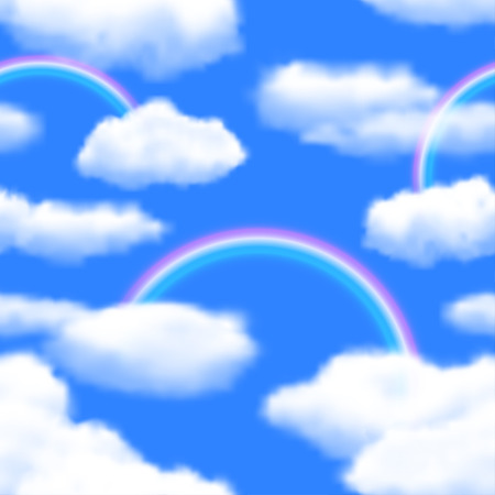 seamless sky: Seamless Sky Background with Rainbow.