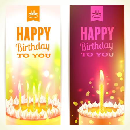 """Conjunto de banners verticales """"feliz cumpleaños"""""""