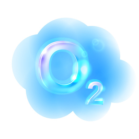 酸素式。  イラスト・ベクター素材