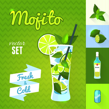 """Mojito\"" Cocktail Set."