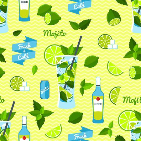 mojito: Mojito Seamless Pattern