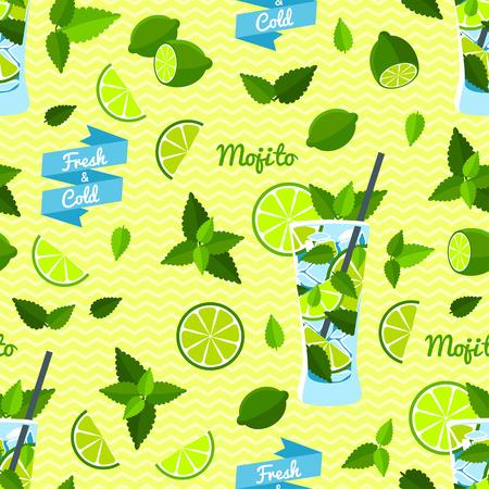 Mojito Seamless Pattern.
