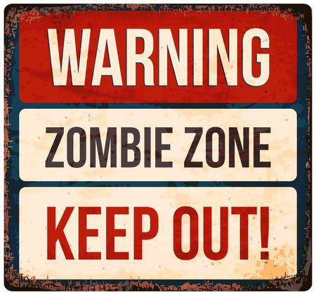 warnings: Halloween warning sign. Beware of zombies! Vector illustration, . Illustration