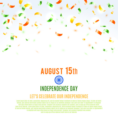 bright light: Indian Independence Day background. Vector illustration, eps10.