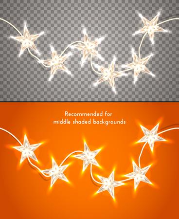 stern: Weihnachtsbeleuchtung auf transparentem Hintergrund sternförmig.