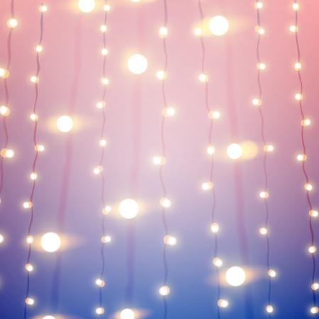 fondo desenfocado con estilo rosa y azul con las luces de bokeh de carnaval. eps10 ilustración vectorial.