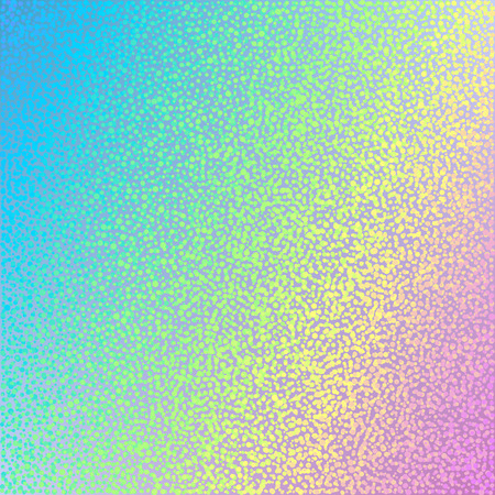 Abstract holographic dotted background. Vector illustration. Design template.