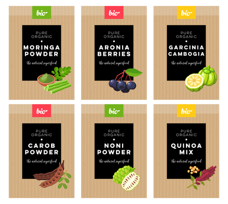 Concept label for natural food marketing.