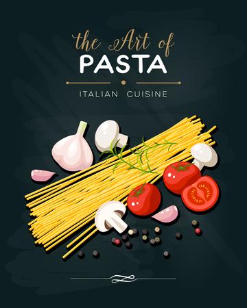 champignon: Italian cuisine banner.