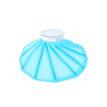 Medicine ice bag. Vector illustration cartoon flat icon isolated on white.