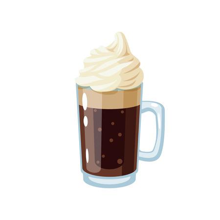 Root beer mug. Vector illustration cartoon flat icon isolated on white.