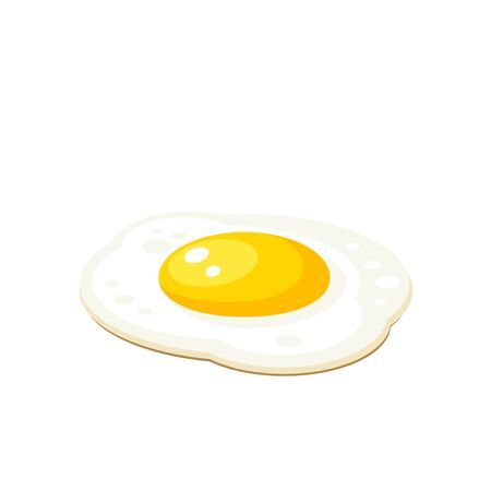 Fried egg. Vector illustration cartoon flat isolated icon collection. Фото со стока - 132278585