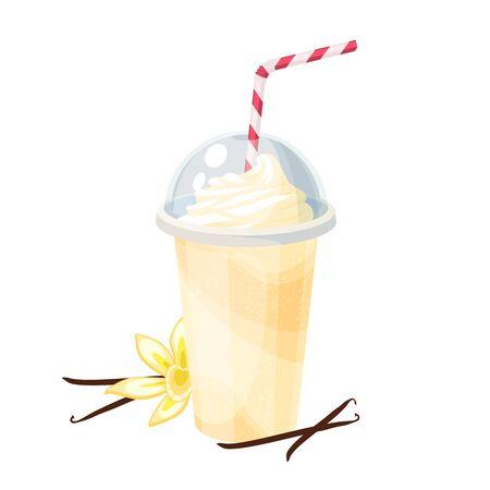 Colorful fruit milkshake design.