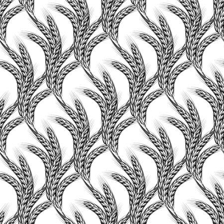 Sheaves of wheat spike ear. Vettoriali