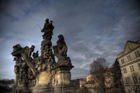 A statue in Prague, The Czech Republic