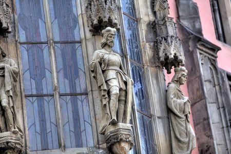 parish: A statue on a church in Prague, The Czech Republic