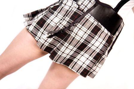 sluttish: a sexy scottish mini skirt on a girl