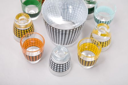 a set of shot glasses with colorful pattern Stock Photo - 2789631