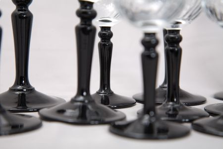 a set of whiskey and wine glasses