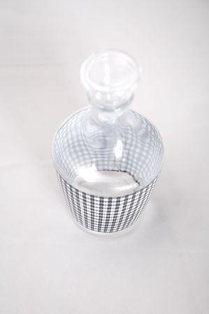 a glass bottle for liquor
