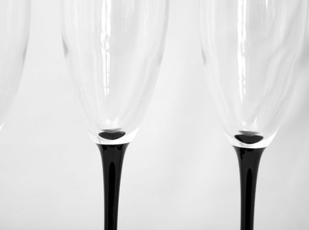 a set of champagne glasses Stock Photo