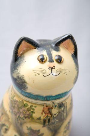a cute decoration wooden cat