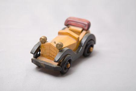 a cute small wooden dutch car Stock Photo