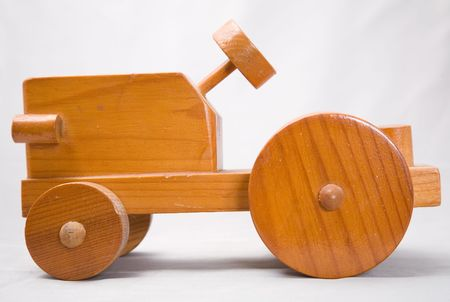 a cute small dutch wooden car