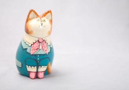 a cute wooden cat