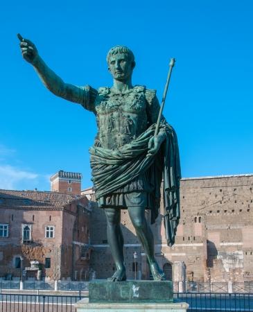 Statue of Caesar in Rome Standard-Bild