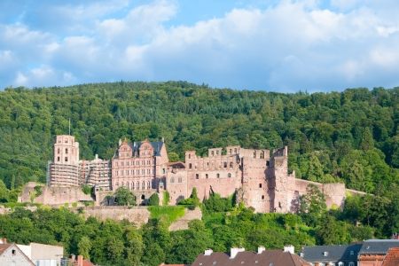 Famous castel in Heidelberg, Germany
