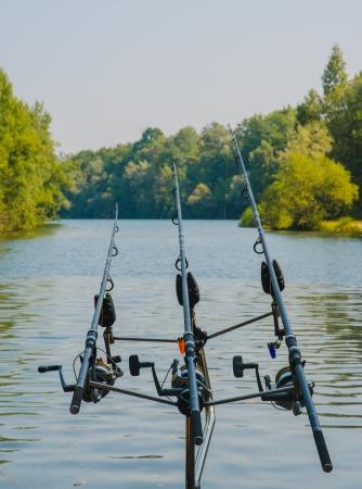 Fishing at a small lake