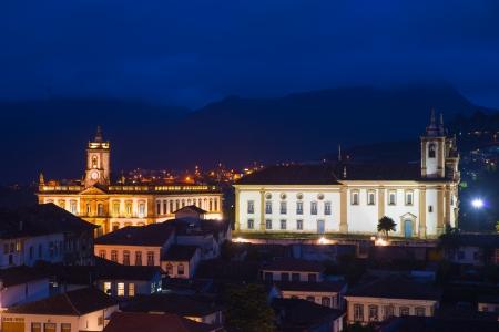 Small city in Minas Gerais, Brazil Standard-Bild