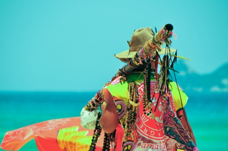 Beach seller