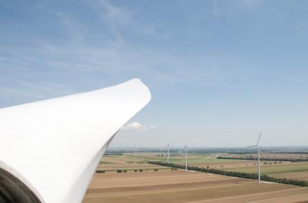 converter: Rotorblade of a wind turbine Stock Photo