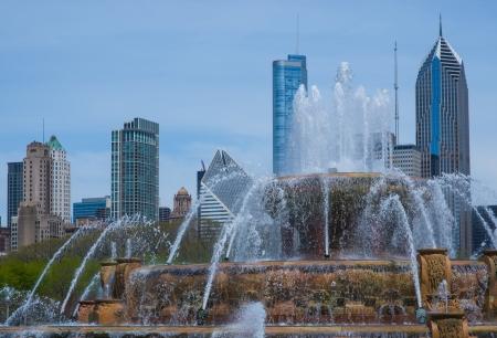 Chicago, great city in US Standard-Bild