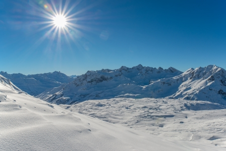Great winter day in the alps photo