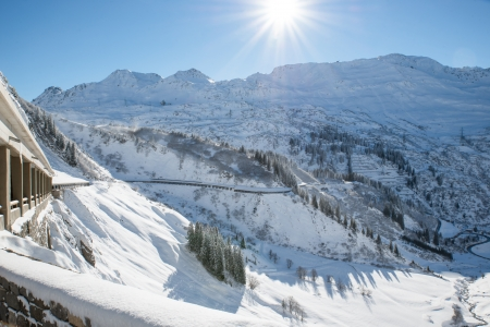 Road to Lech Zuers in Austria