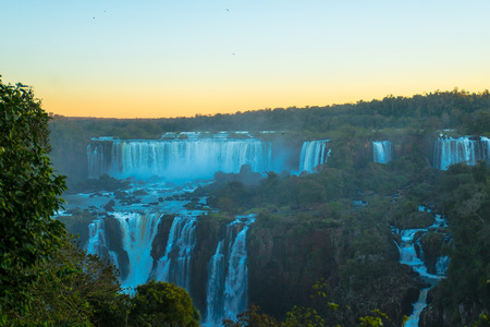 Great Iguacu Waterfalls view from Brazil side photo