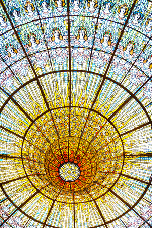 montane: Palau Musica Catalana at Barcelona is one of the most famous concert halls of the world Editorial