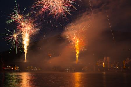 Nice fireworks in Heidelberg, Germany