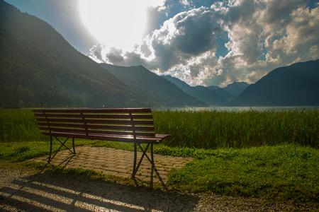 Widok na miły Achensee w Alpach Tyrolskich Zdjęcie Seryjne