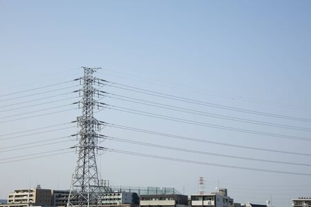 Wires and tower 免版税图像