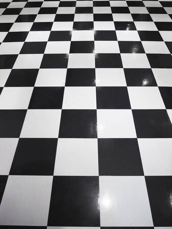 white and black tile floor
